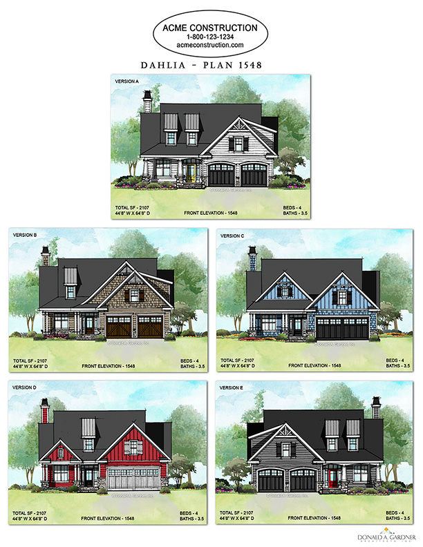 House Plan 1548 - The Dahlia