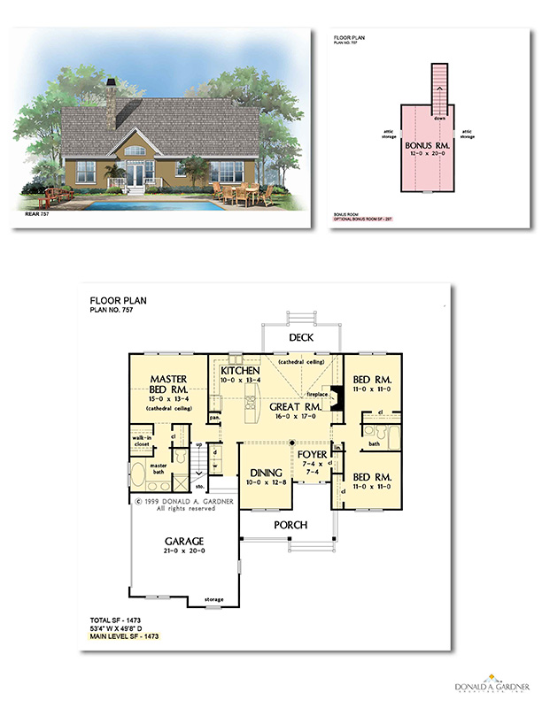 Floor Plan for Muiltipl Elevation Plan 757