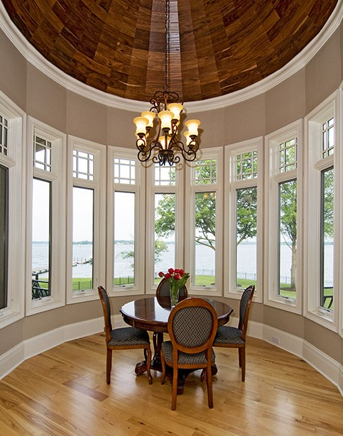 Dining area with wood dome ceiling from Heatherstone - House Plan 5016
