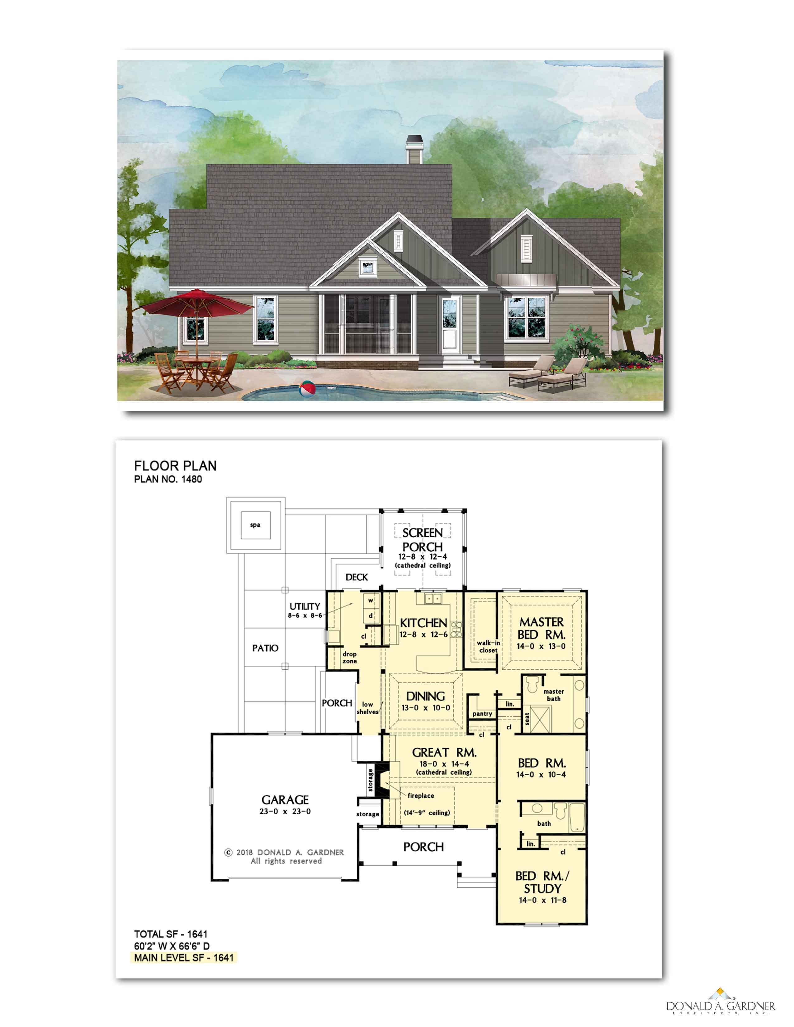 Home Plan 1480 - The Vincent