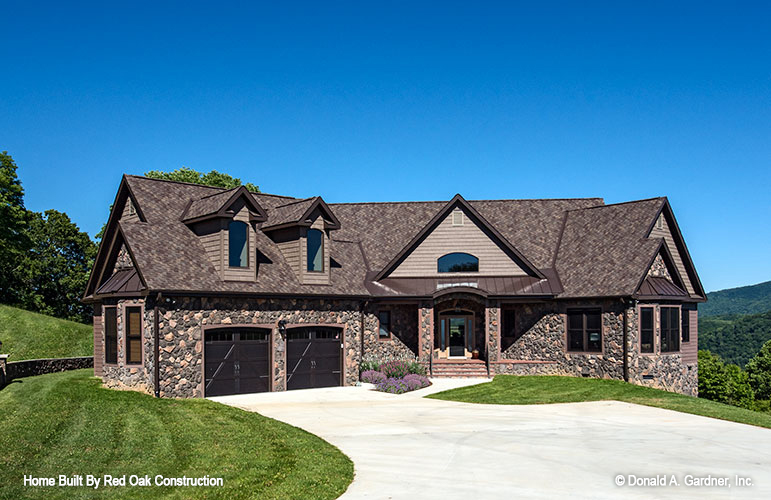 Exterior photo of mountain house plan 1321 - the Sylvan