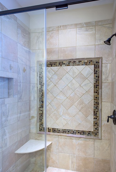 Master bathroom shower from the Foxglove - Home Plan #1297