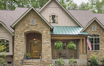 front porch of Lake House Plan 1312 - the Baskerville