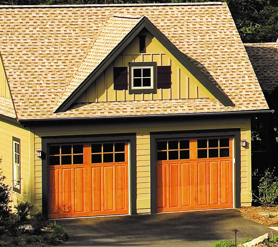 Garage doors from house plan 5013- the Riva Ridge
