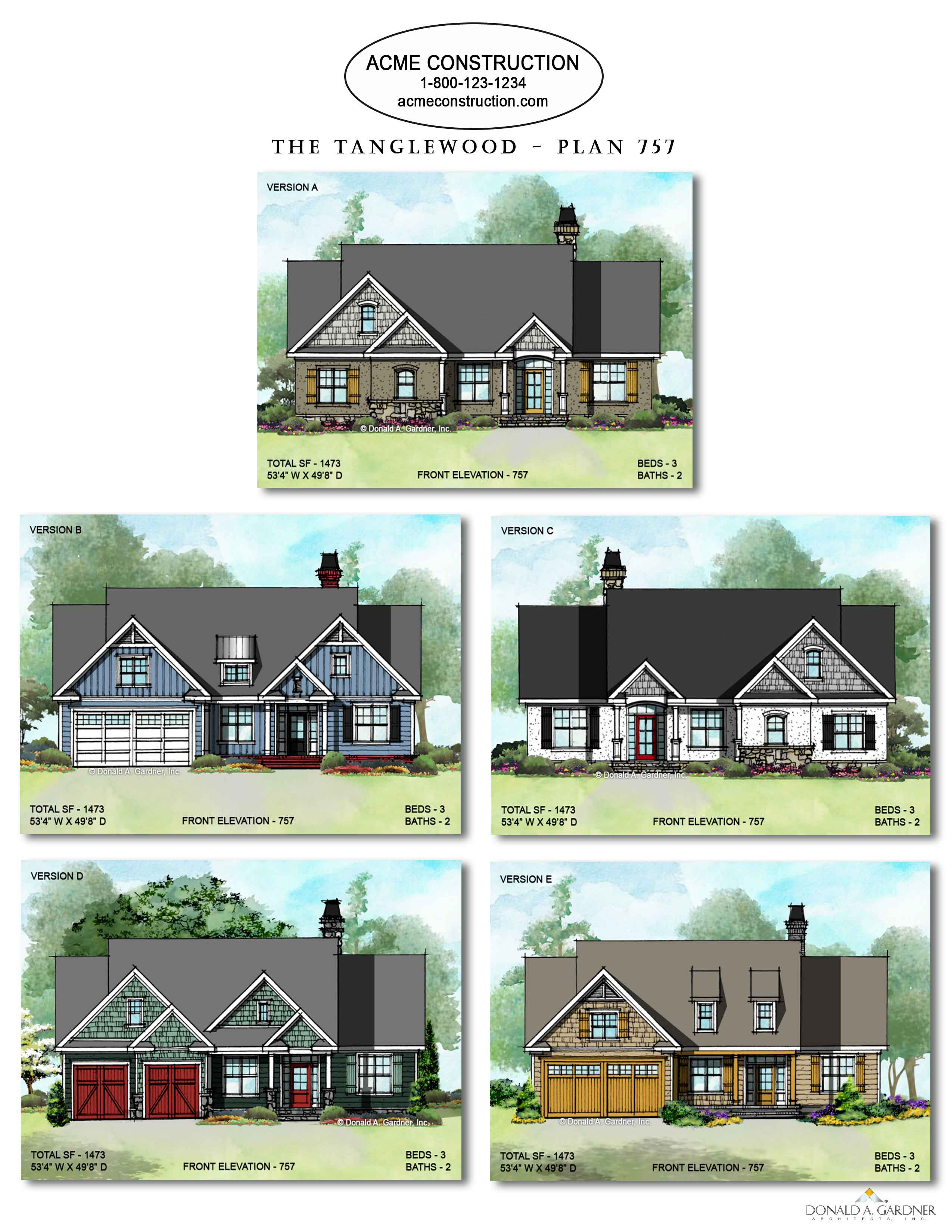 House Plan 757 - The Tanglewood