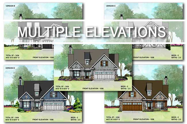 House Plans with Multiple Elevations