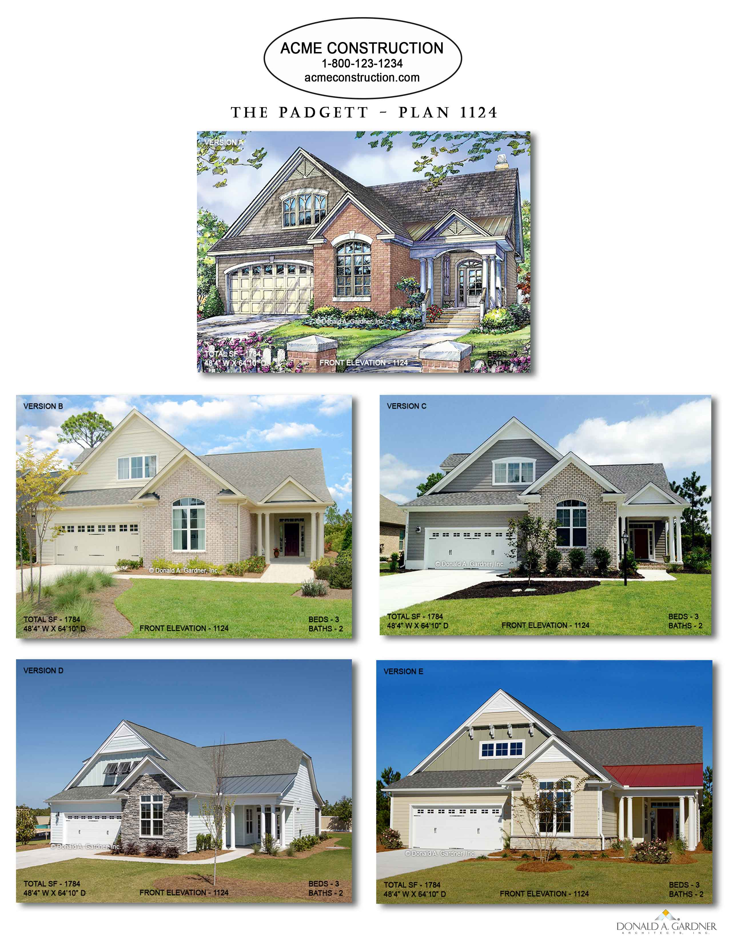 House Plan 1124 - The Padgett