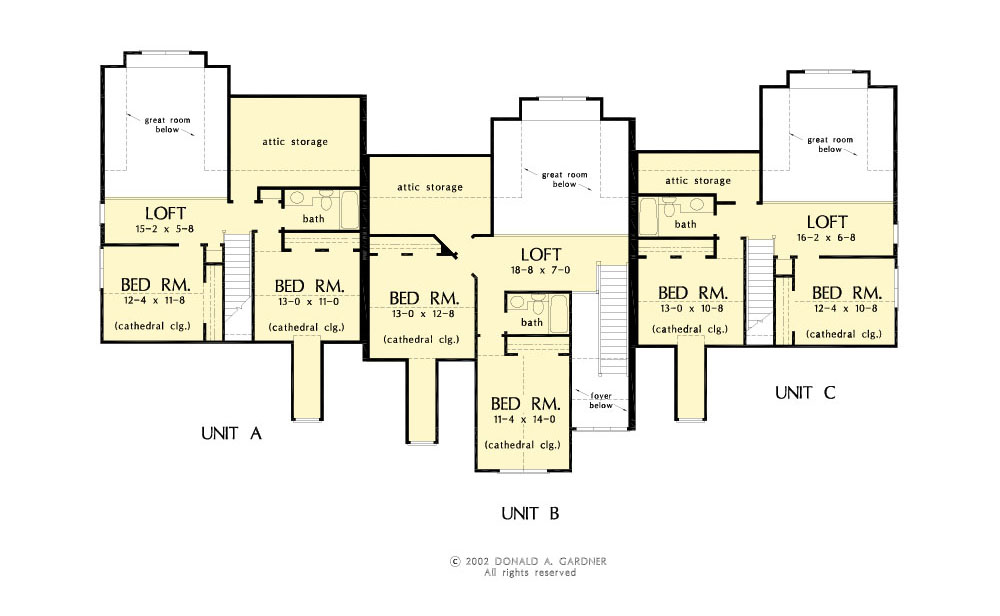 House plan 8001 - Second Floor