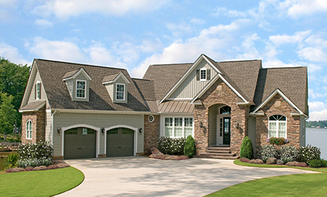 Exterior photo of lake house plan 1254 - the Silvergate