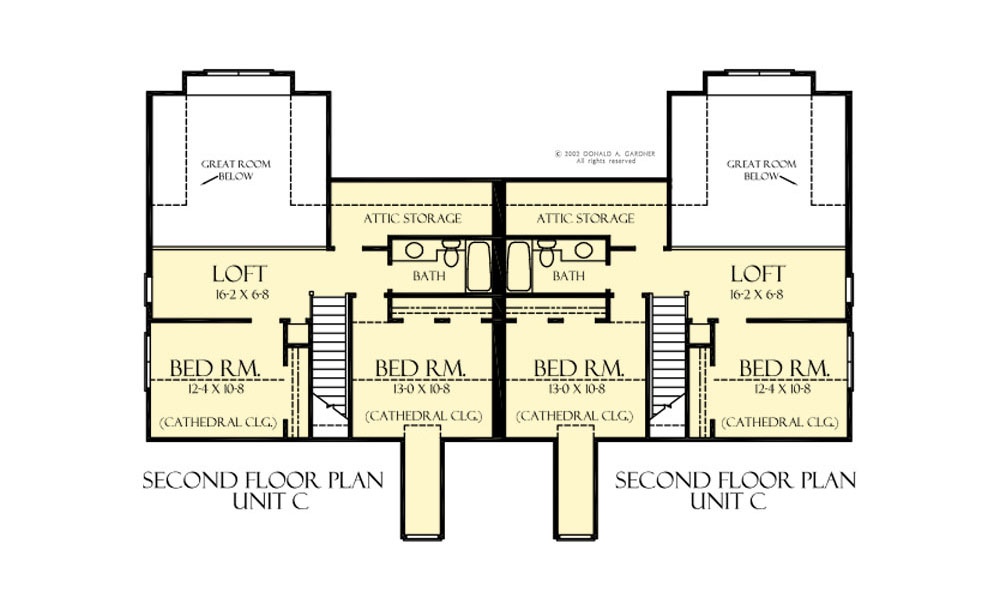 House Plan 8003 Second Floor