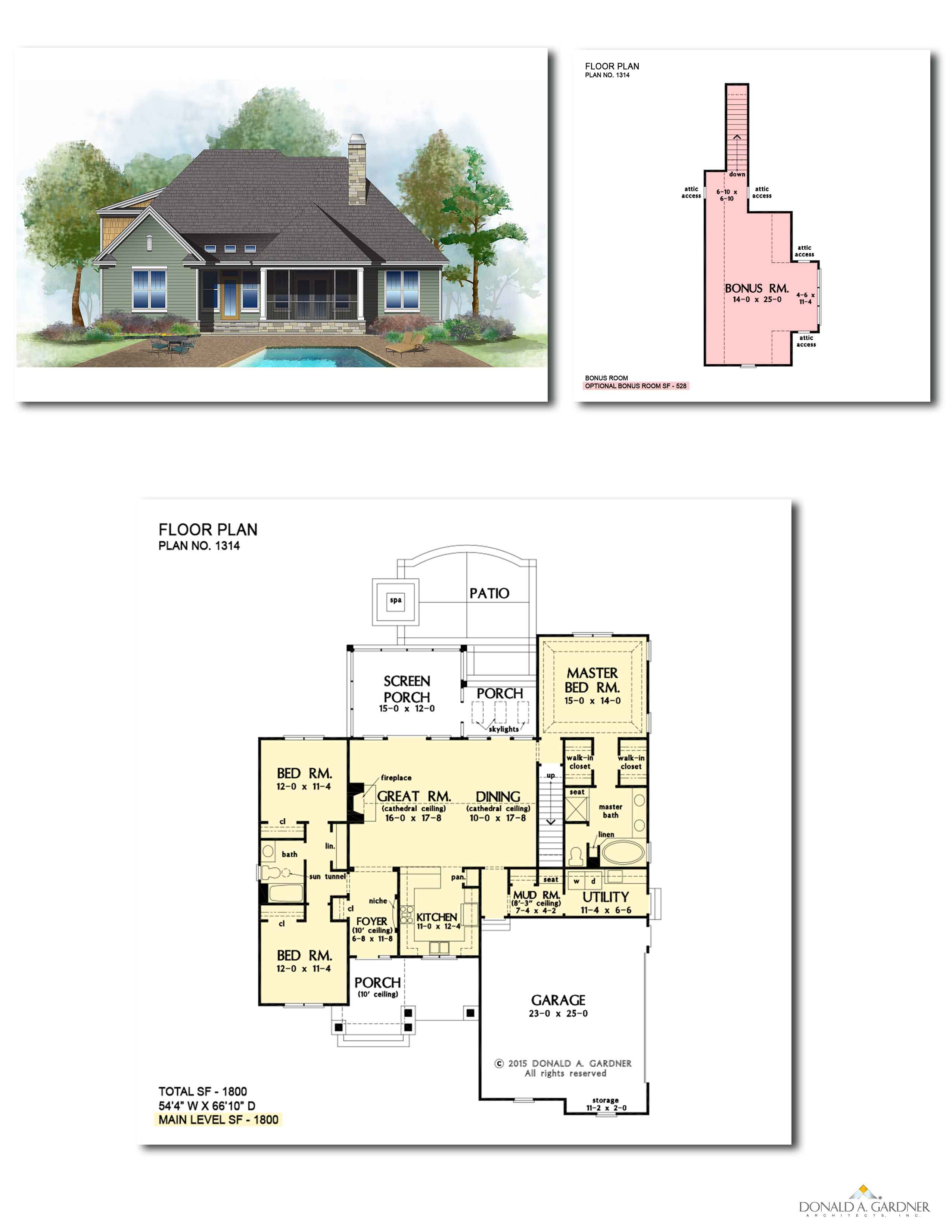 Home Plan 1314 - The Eleanor
