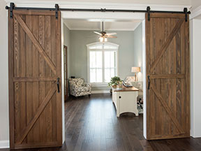 Barn Door Photo from House Plan 1296 - The Wilkerson