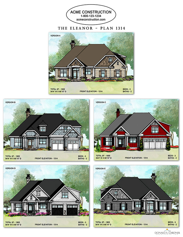 House Plan 1314 - The Eleanor Floor Plan