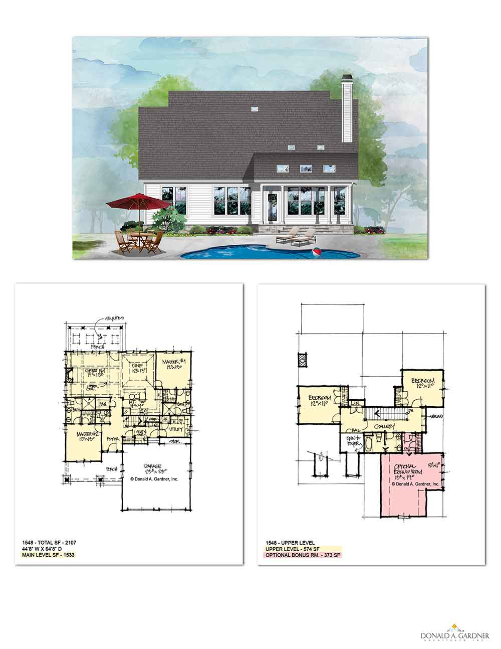 Home Plan 1548 Floor Plan - The Dahlia