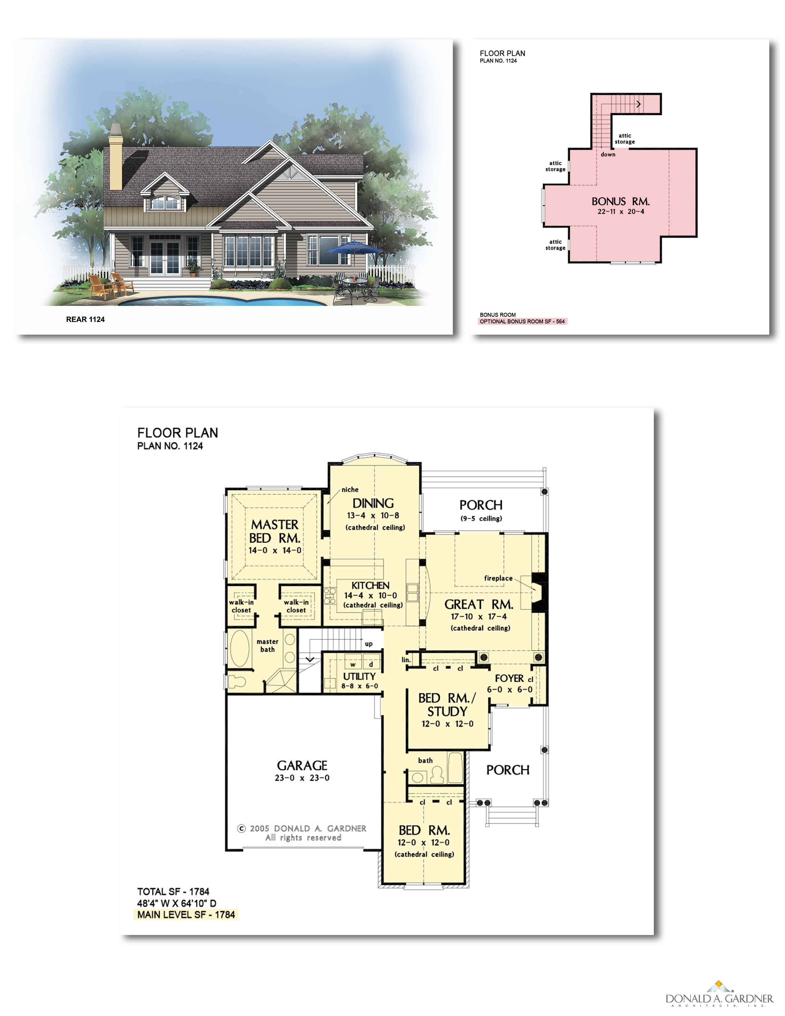 Home Plan 1124 - The Padgett