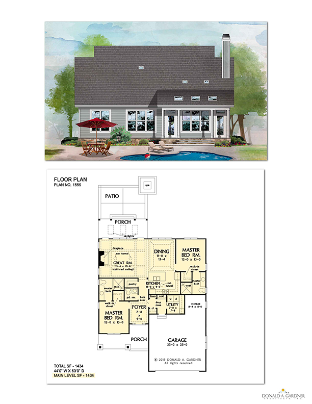 Floorplan of houseplan 1556 - The Artemis