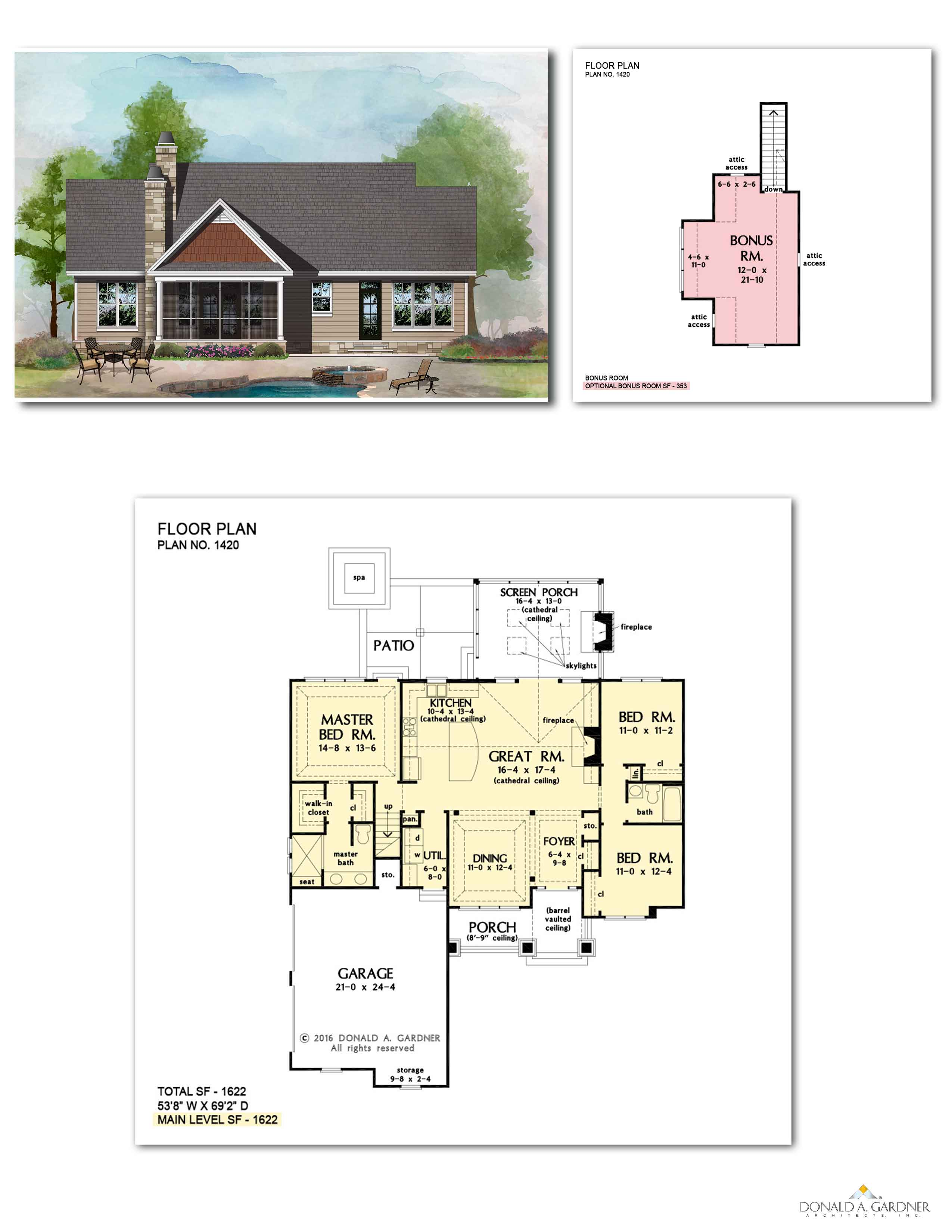 Home Plan 1420 - The Miranda