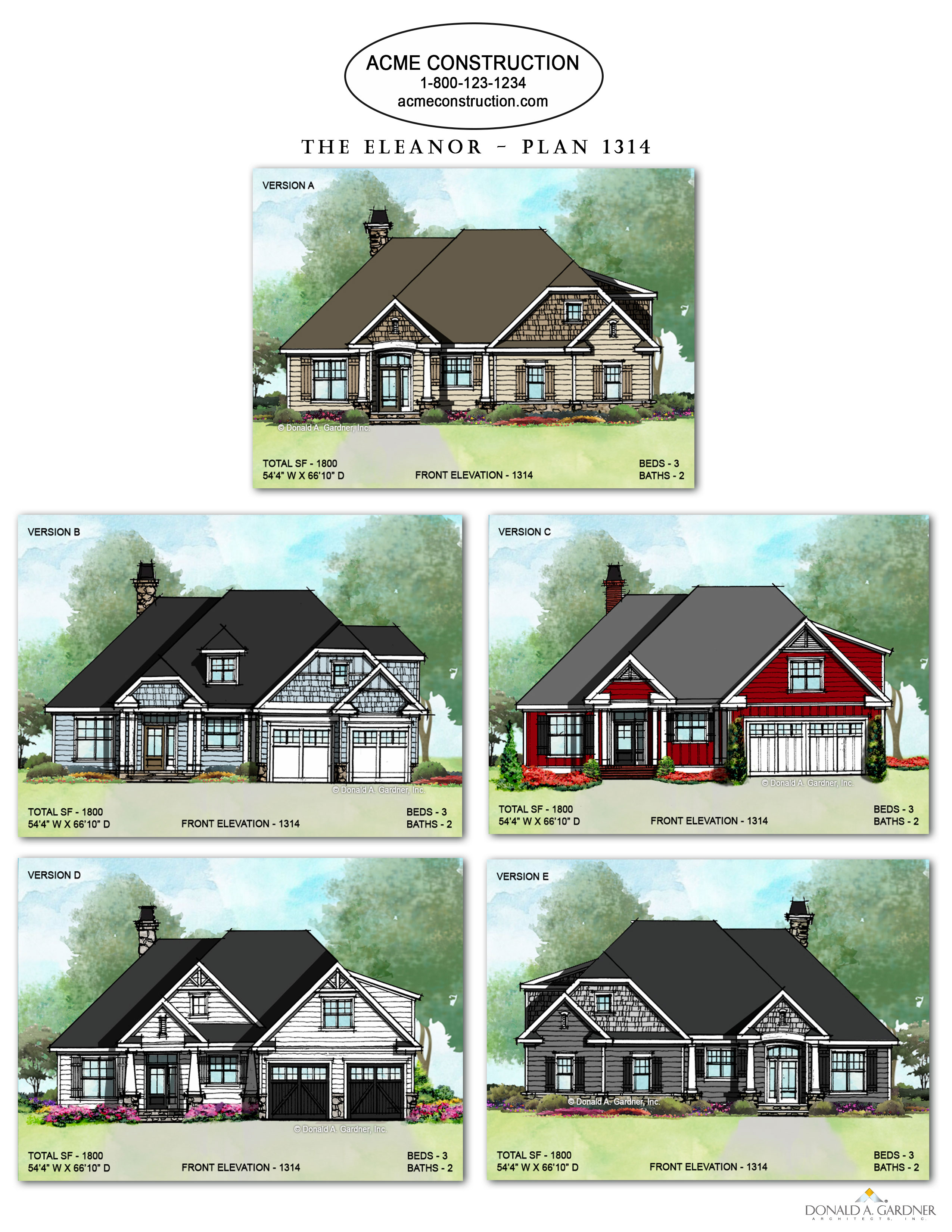 The leaanor - House Plan 1314