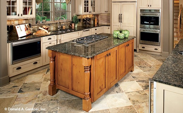 Kitchen Island from the Hollowcrest - House Plan #5019
