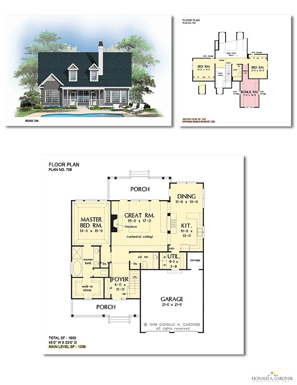 Mutliple Elevation Floorplan 706 - The Courtney