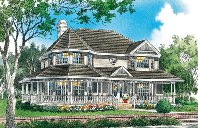 Home plan the ashley ii by donald a gardner architects for Victorian style modular homes