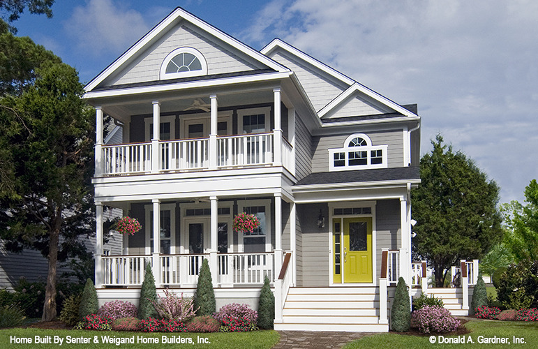 Charleston style side porch house plans for Charleston home plans