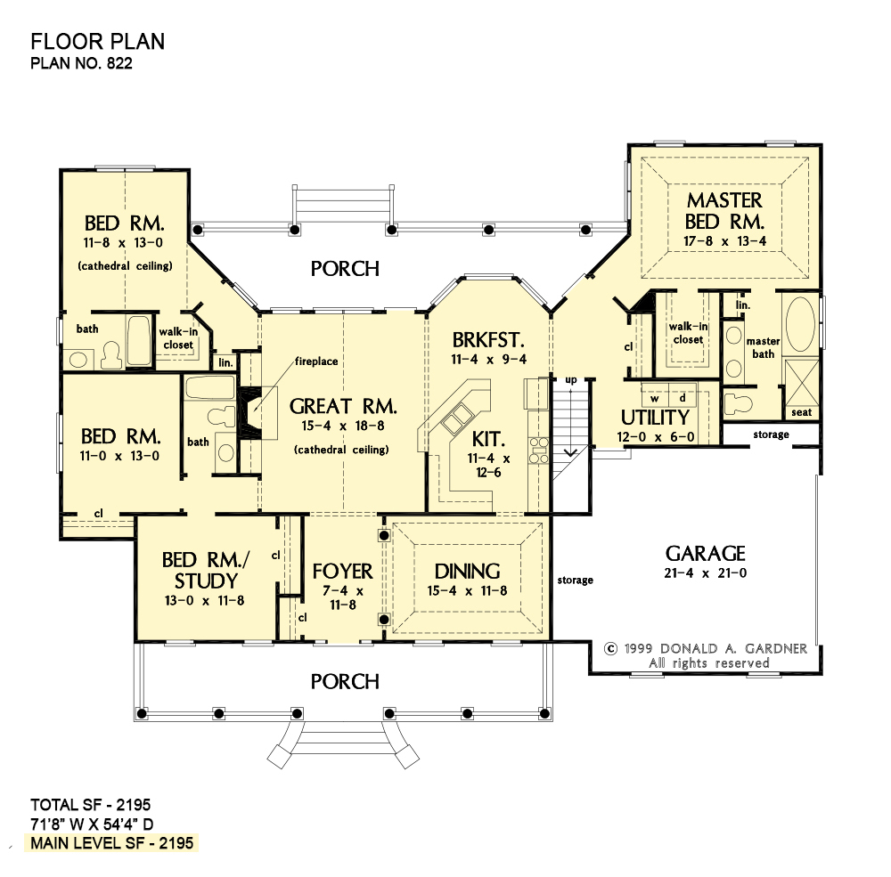 Classic Country Home Plans One Story Ranch Houseplans