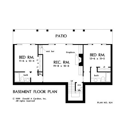 Three Bedroom Craftsman Home Plans Don Gardner Architects