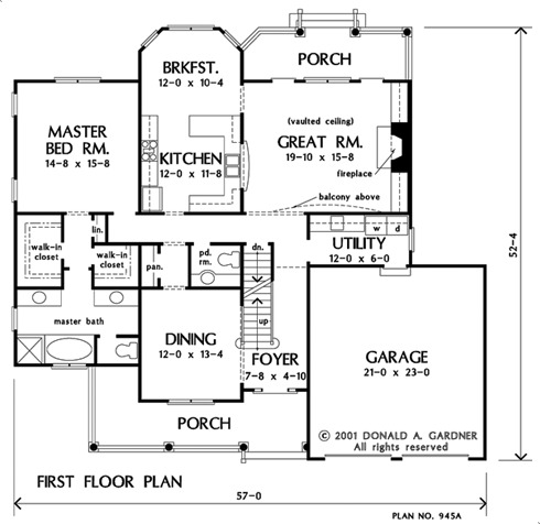 Home Plan The Heartland By Donald A Gardner Architects