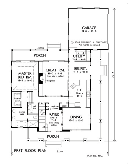 House Plan The Trotterville by Donald A. Gardner Architects