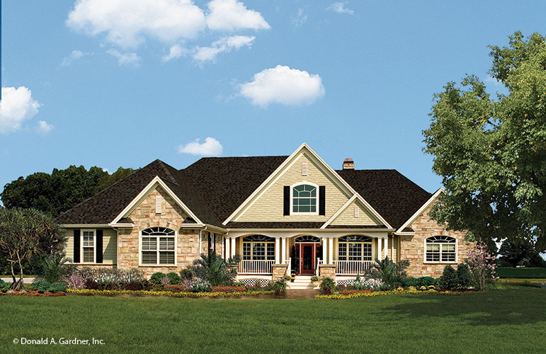 Stone Ranch Home Plan Edgewater Don Gardner Architects