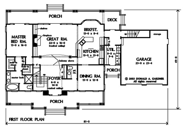 First Floor Elevation Definition : House plan the petalquilt by donald a gardner architects