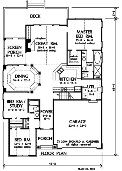 Small Craftsman House Plans One Story Home Plans Gardner
