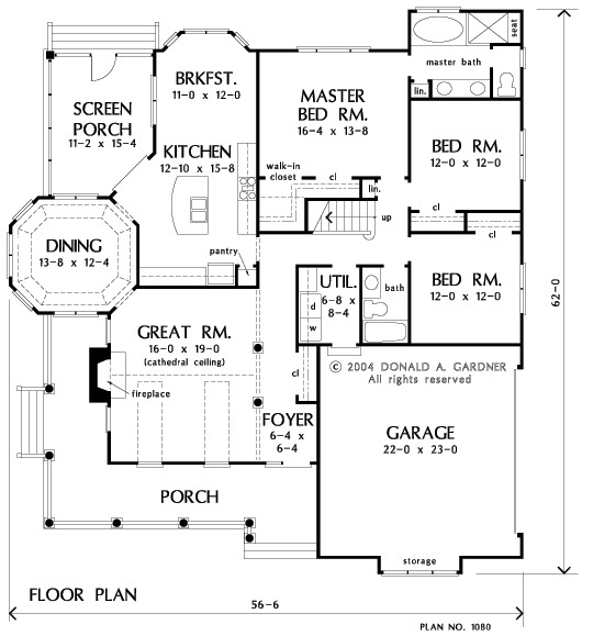 10 X 13 Kitchen Design House Plan The Harmony Point By Donald A Gardner  Architects Part 95