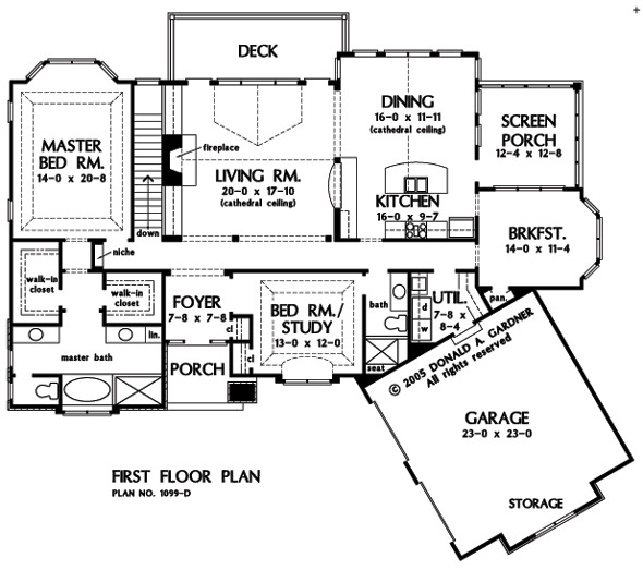 1st Floor Sunroom To Deck Over Walkout Basement: Home Plan The Touchstone By Donald A. Gardner Architects