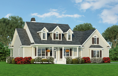 Cape cod house plans and floor plans don gardner for Single story cape cod house plans