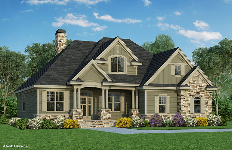 Home plan the valmead park by donald a gardner architects for Craftsman style homes for sale in northern virginia