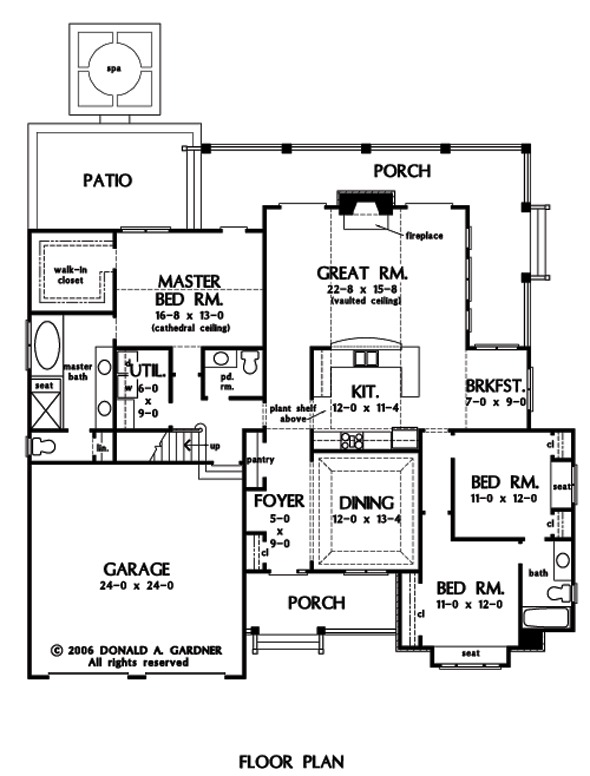 Home plan the jenner by donald a gardner architects for Home plan com