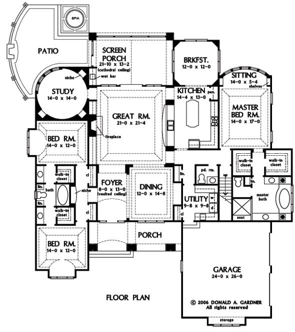 House Plan The Verdelais By Donald A. Gardner Architects