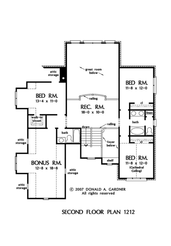 House plan the richardson by donald a gardner architects for Richardson homes floor plans