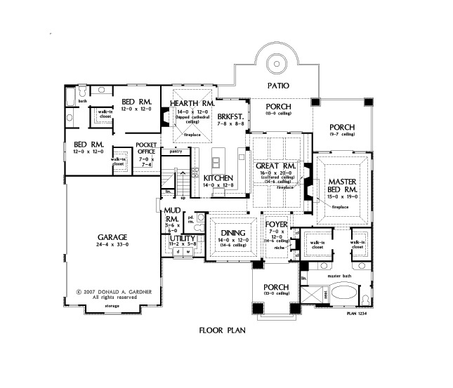 House Plan The Fincannon By Donald A Gardner Architects