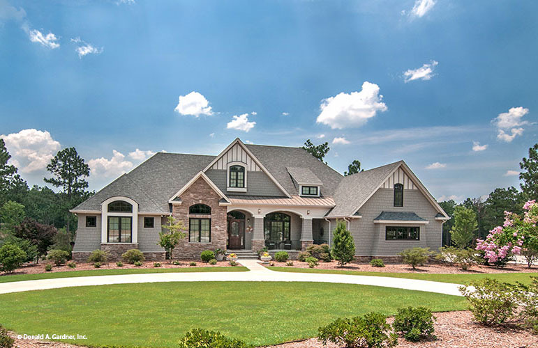 Arts Crafts Styled Sprawling Ranch Home Plan Birchwood