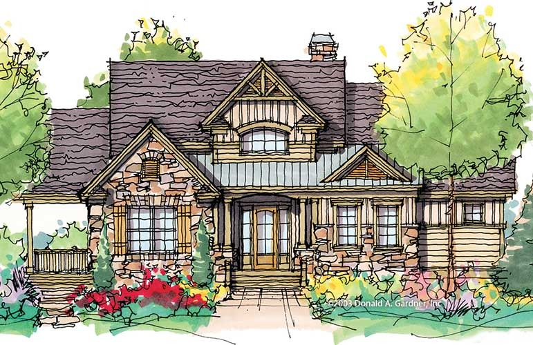 One story house plans with detached garages for House plans with lots of storage