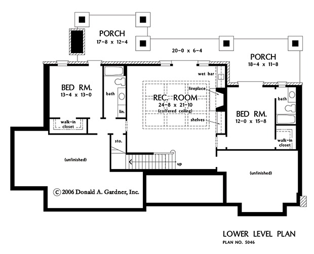 House Plan The Asiago Ridge by Donald A Gardner Architects