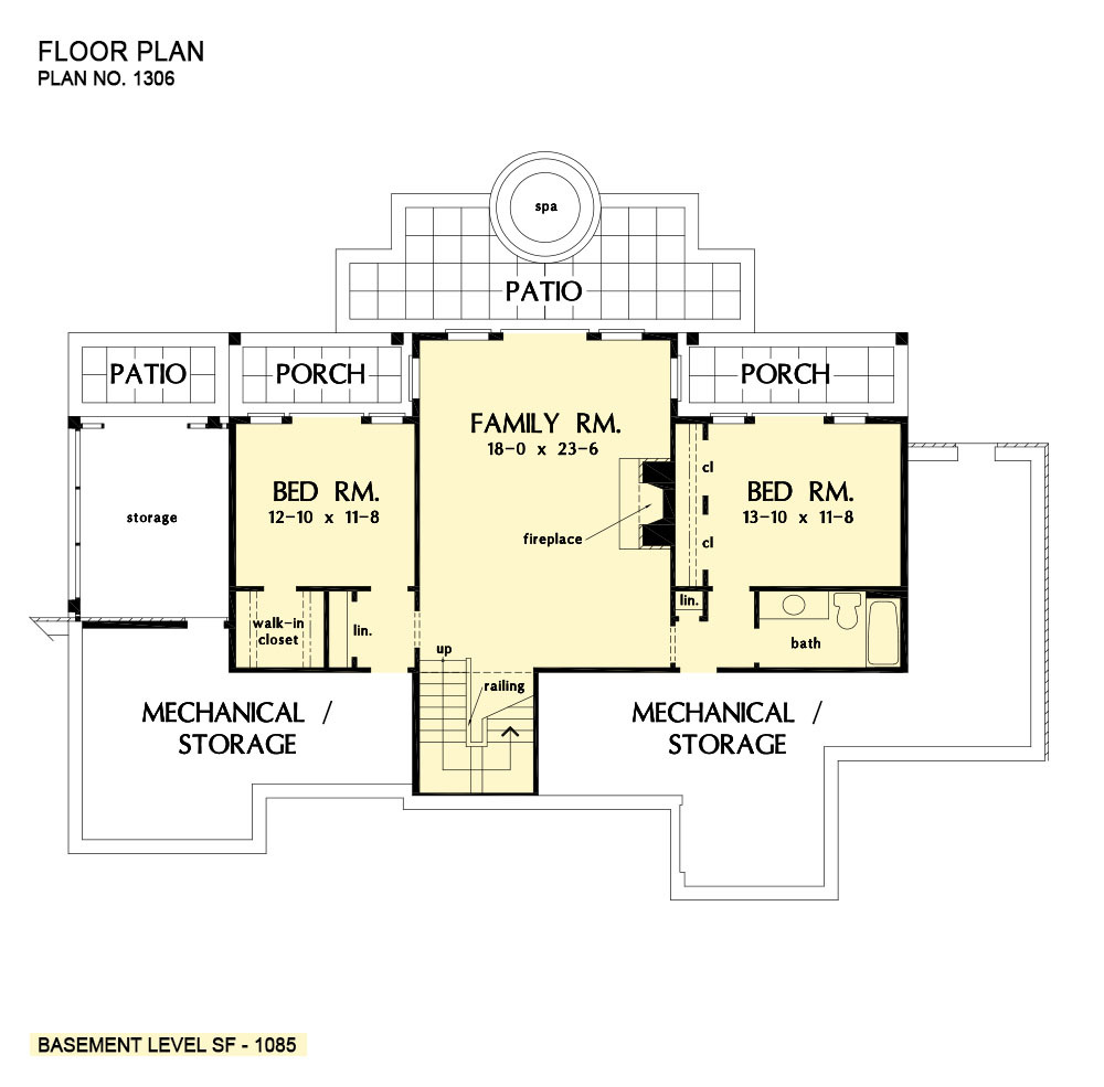 Walkout Basement Craftsman Home Plans Donald Gardner