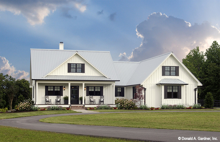 Small Open Concept House Plans - The Coleraine | Don Gardner on country home plans with wrap around porch, country living house floor plans, country living style house plans, country living modular home,