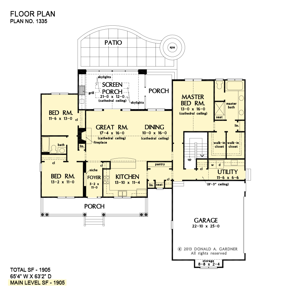Small Open Concept House Plans - The Coleraine | Don Gardner on