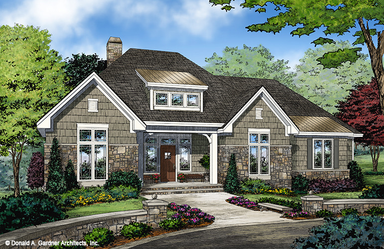 house plan the greer - French Country Cottage House Plans