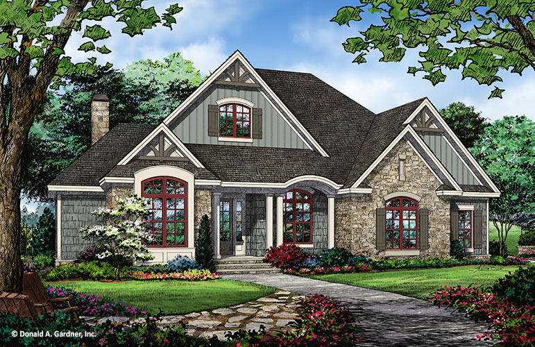 French Country House Plans Floor Plans Don Gardner