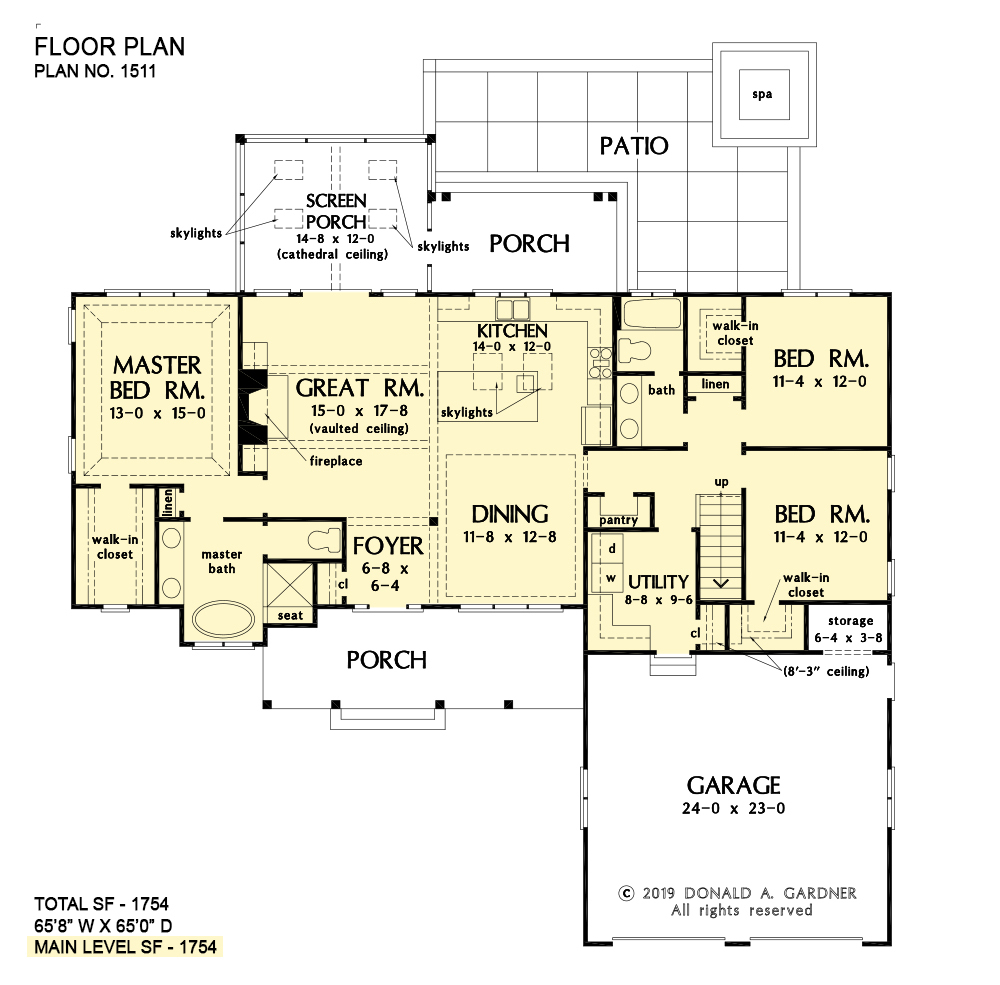 Ranch House Plans | Simple One-Story House Designs